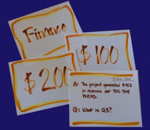 image of sample cards for Project Jeopardy